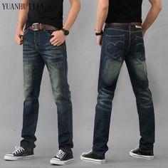 14.39$  Buy now - http://alisql.shopchina.info/go.php?t=32754387115 - 2016 High Quality Mens Jeans Blue Color Printed Jeans For Men Ripped Button Jeans Casual Pants Quality Cotton Denim Jeans  #buyonline