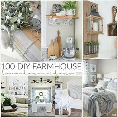Farmhouse Decor Ideas - Beautiful DIY Home Decor that you can do! These are easy ways to decorate your home with furniture and things you already have.