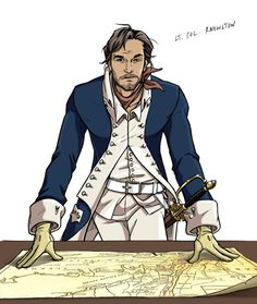 "Col. Knowlton Character Design by comic-chic.deviantart.com on @deviantART - From the artist's comments: ""This is Lieutenant Colonel Thomas Knowlton, who leads Knowlton's Rangers, a Reconnaissance group that fought during the Revolutionary War....His men loved him, and rather than march into battles from behind like other field officers, he was always at the front of his troops and was known for shouting, ""Come on, boys!"" rather then ""Go on, boys!"""""