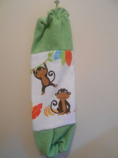 Every home needs one of these!  Grocery Bag Dispenser by CrochetandOrnaments on Etsy, $8.00