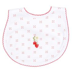 Magnolia Baby Strawberry Fields Embroidered Bib