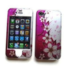 Apple iPhone 4 and 4S Snap-on Protector Hard Case Image Cover Paradise Design-Pink