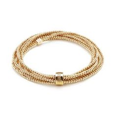 One long continuous strand of glorious Gold beads in a stunning wrap style statement bracelet. Free delivery on orders over Stackable Bracelets, Bangle Bracelets, Engraved Rings, Gold Bangles, Gold Beads, Stone Beads, Fashion Bracelets, Silver Jewelry, Annie