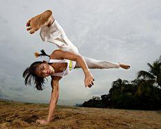 Artist Reference | Figure Study | Fight Pose | https://www.facebook.com/MakeItBurnNow capoiera brazil beach action martial arts