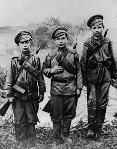 Russian boy soldiers of WWI