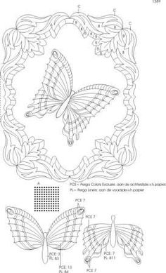 Butterfly pattern in two pieces