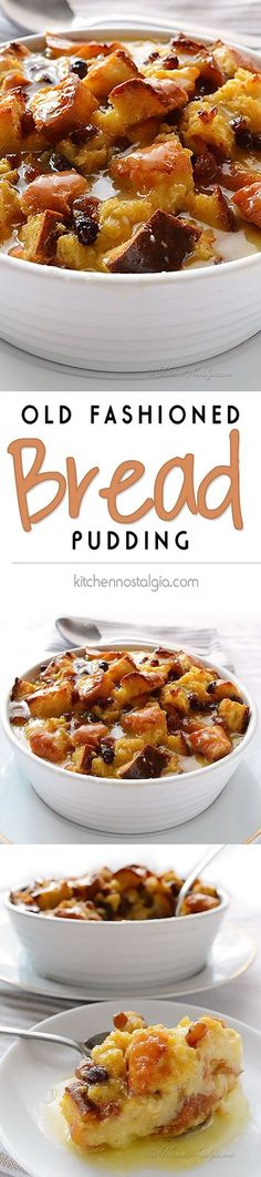 Fashioned Bread Pudding Recipe Old Fashioned Bread Pudding - taste of the good old days - recipe from Old Fashioned Bread Pudding - taste of the good old days - recipe from Brownie Desserts, Just Desserts, Delicious Desserts, Yummy Food, Holiday Desserts, Pudding Recipes, Bread Recipes, Cooking Recipes, Pudding Desserts