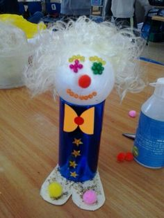 ליצן לפורים Clown Crafts, Paper Mache Animals, Summer Crafts For Kids, Crafty Kids, Working With Children, Kids Education, Activities For Kids, Projects To Try, Holiday