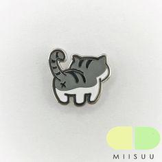 Chat tigré gris Butt émail broches par MIISUU sur Etsy