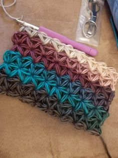 Star stitch scarf