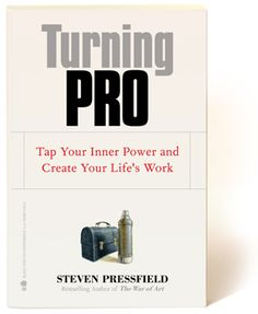 Turning Pro by Steven Pressfield   Referred by the99percent http://the99percent.com/articles/7192/Are-You-Trapped-in-a-Shadow-Career-The-Artist-vs-The-Addict