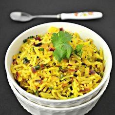 Phodnicha Bhaat - Tempered Rice by shwetainthekitchen