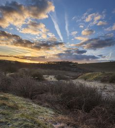 Winter Sunrise - Wolstonbury Hill, South Downs, West Sussex, England.