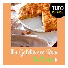 RentréeDiscount - Le Blog : Tuto : Ma galette des rois en 15 mn Waffles, Breakfast, Blog, Creative Food, Home Made, Bon Appetit, Morning Coffee, Waffle, Blogging