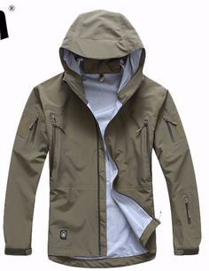 Cheap tactical jacket, Buy Quality camo windbreaker directly from China jacket men Suppliers: Men Outdoor Hardshell Hiking Jackets Windbreaker Hooded Trench Waterproof Camping Sports Coats Camouflage Tactical Jacket Fall Jackets, Outerwear Jackets, Men's Jackets, Fleece Jackets, Mens Hiking Jacket, Jacket Men, Rain Jacket, Airsoft, Tactical Jacket