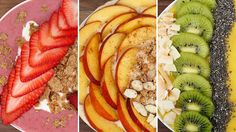 3 Healthy Smoothie Bowl Recipes! (VIDEO)