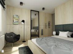 Mieszkanie 55m2 Warszawa - Sypialnia, styl nowoczesny - zdjęcie od Pracownia Architektoniczna Małgorzaty Górskiej-Niwińskiej