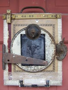 small-stories-studio....Idea to note: could take b/w picture of first house and use old hardware to embellish the photoframe