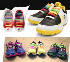 12pcs/lot New Design Children No Tie Rubber Elastic Shoelace Sneaker Shoe Laces Running Shoelaces Athletic Shoe laces