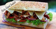 Grilled Subway Chicken Teriyaki Sandwich