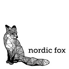 Geometric Fox design - Nordic Fox logo