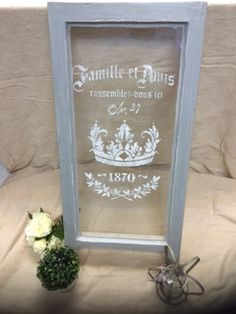 How To: Etch Graphic onto Vintage Window - The Crafty Nest