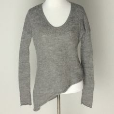 Helmut Asymmetrical Gray Alpaca Sweater Great preloved condition! Please ask questions! No trade or PP! Helmut Lang Sweaters