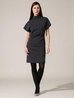 High Collar Wool Dress by Behnaz Sarafpour on Gilt.com