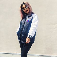Bomber jackets are the perfect transitional piece for spring #AsSeenOnMe