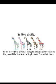 Giraffe quote <3