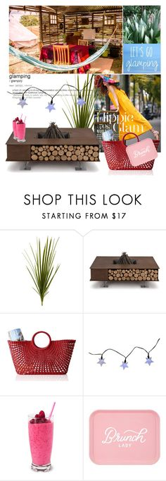 """""""GLAMPING"""" by mariapia65 ❤ liked on Polyvore featuring interior, interiors, interior design, home, home decor, interior decorating, Nearly Natural, AK47, Mark & Graham and Smart Solar"""
