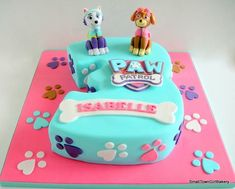 Girls Paw Patrol Cake, Bolo Do Paw Patrol, Paw Patrol Torte, Skye Paw Patrol Cake, Paw Patrol Birthday Girl, Paw Patrol Cupcakes, Girl Paw Patrol Party, Third Birthday Girl, 4th Birthday Cakes