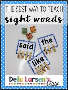 The best way to teach sight words.Teaching kids to read is the core of any kindergarten curriculum. It's a privilege to have a front row seat to the wonder of going from not knowing any letters in September to actually reading in June. It's one of the thi