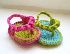 Cute crocheted baby sandals