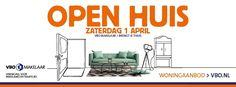 1 april open huizen dag. Kijk voor alle deelnemende woningen op www.vbo.nl