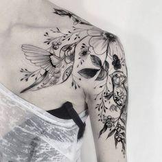 Liking the flowers, Hummingbird tattoo thought. Liking the flowers Hummingbird tattoo thought. Liking the flowers Hummingbird tattoo thought. Liking the flowers. Model Tattoos, Body Art Tattoos, Girl Tattoos, Star Tattoos, Maori Tattoos, Tatoos, Wolf Tattoos, Skull Tattoos, Filipino Tattoos