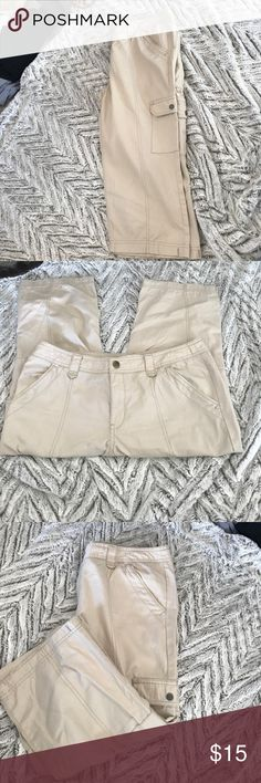 Eddie Bauer Khaki Capri Pants Eddie Bauer Khaki Capri Pants.  Great Condition! Eddie Bauer Pants Capris