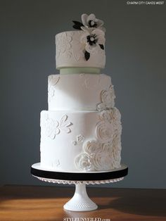 Lisette by Charm City Cakes West / wedding cake / via Style Unveiled