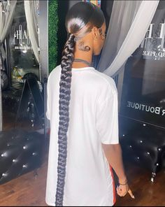 Baddie Hairstyles, Ponytail Hairstyles, Weave Hairstyles, Thick Natural Hair, Natural Hair Types, Weave Ponytail, Box Braids Styling, Aesthetic Hair, Hair Game