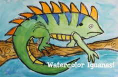 art lessons grade: iguana art lesson by deep space sparkle 5th Grade Art, Fourth Grade, Grade 1, Second Grade, Deep Space Sparkle, Butterfly Painting, Butterfly Art, Middle School Art, Art Lessons Elementary