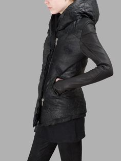 2201ra 09 15 03 12 0005 Dark Fashion, Urban Fashion, All Black, Black And White, Black Hood, Future Fashion, Mantel, Goth, Women Wear