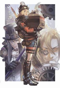 steampunk johnny_joestar diego_brando steel_ball_run gyro_zeppeli