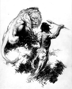 "Tarzan by Frank Frazetta ❁❁❁Thanks, Pinterest Pinners, for stopping by, viewing, pinning, following my boards. Have a beautiful day! ❁❁❁ ****✮✮""Feel free to share on Pinterest""✮✮"" #fashion #gifts www.unocollectibles.com"