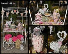 #christening #candybar decor #hearts