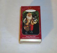 Hallmark Keepsake Ornaments Santa's Merry Path 1997 Folk Art Americana
