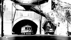 Lost Tunnels of Downtown L.A.  South portal of the Broadway tunnel, near Broadway and Temple, circa 1925. Courtesy of the Metro Transportation Library and Archive. Used under a Creative Commons license (CC BY-NC-SA 2.0).