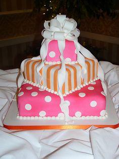 pink & orange for bridal shower?
