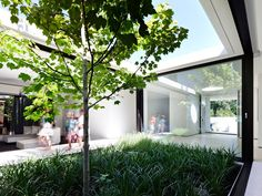 Internal courtyard featured in the Brighton Sixties house on Grand Designs Australia series 2