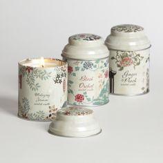 Filled Asian Tea Candle Tins, Set of 3