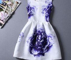 Retro jacquard printed sleeveless dress SF82210JL